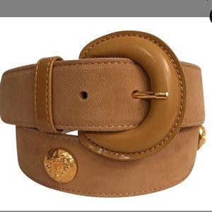 Escada vintage suede leather beige belt